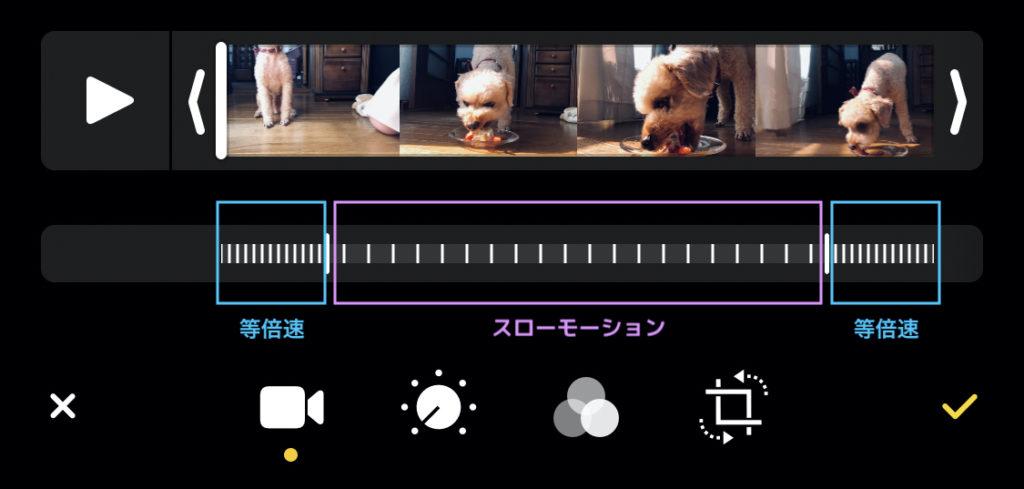 iPhone純正アプリ「写真」で動画の速度変更|naraco